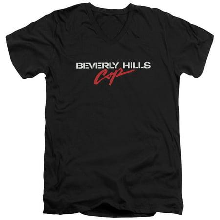 Beverly Hills Cop Logo Mens V Neck Shirt