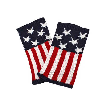American Flag Print Knit Boot Cuff Leg Warmers](Cheap Furry Leg Warmers Boot Covers)