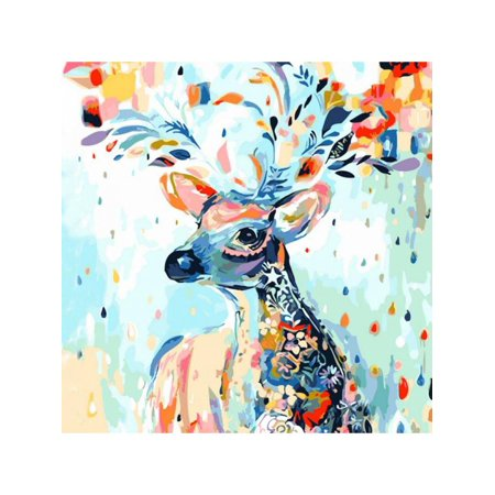 Paint by Numbers for Adults Animal Theme DIY Oil Painting Kit for Kids Beginner - Paint By Number Kits For Adults