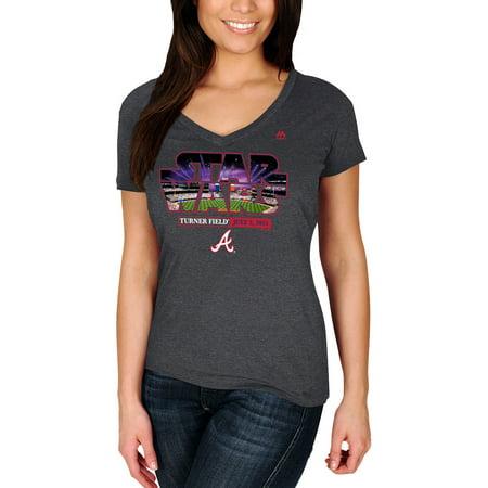 Atlanta Braves Majestic Women's 2015 Star Wars Day Stadium T-Shirt - Charcoal