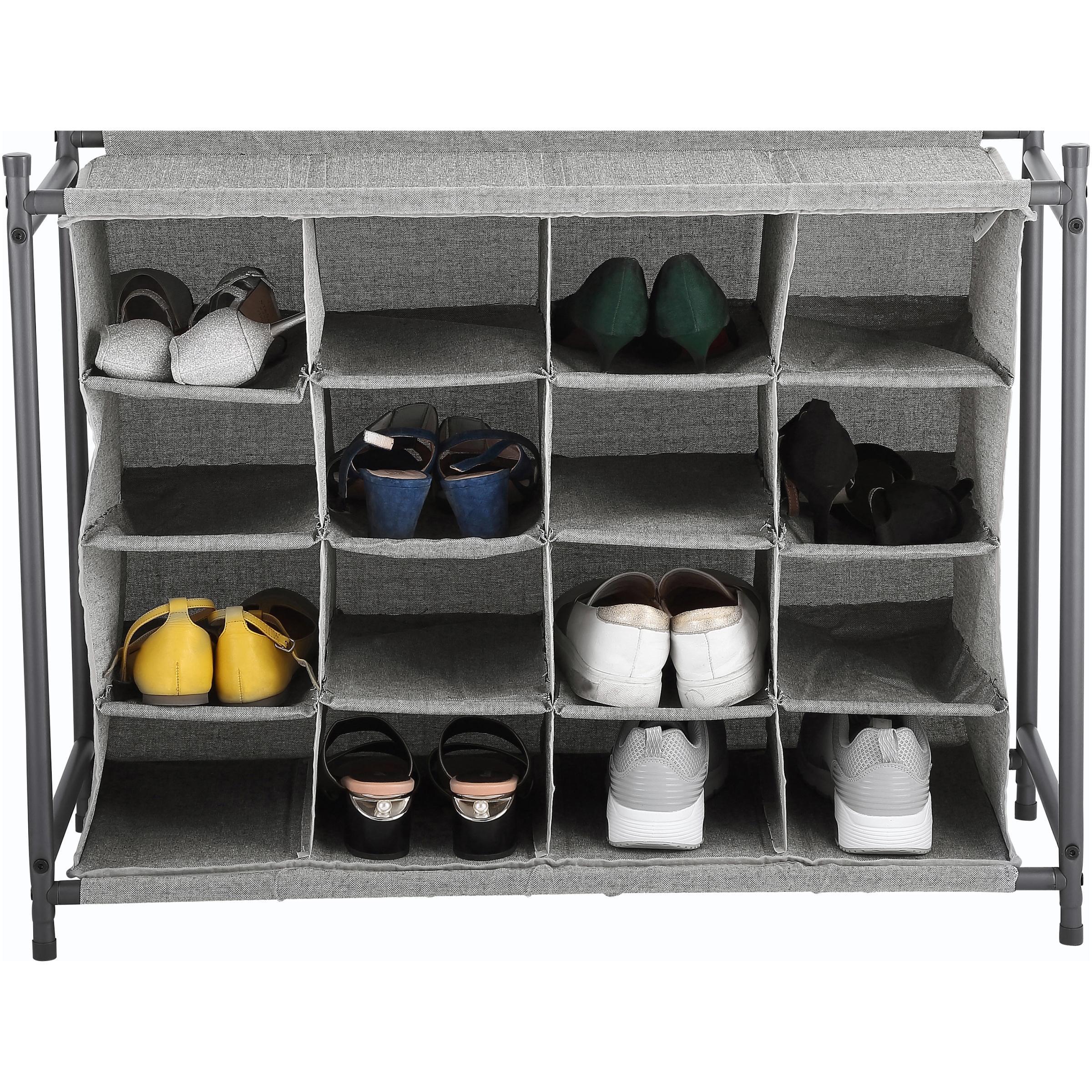 Better Homes & Gardens Charleston Collection 16-Pair Shoe Organizer