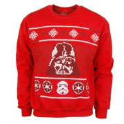 Star Wars Darth Vader Men's Red Christmas Ugly Sweater
