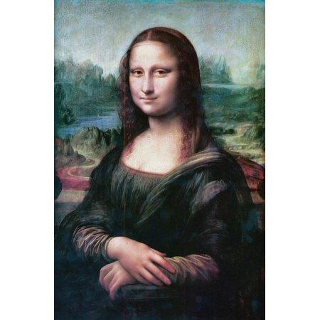 Framed Art For Your Wall Mona Lisa Leonardo De Vinci The Joconde Smile 10x13 Frame (Mona Lisa Frame)