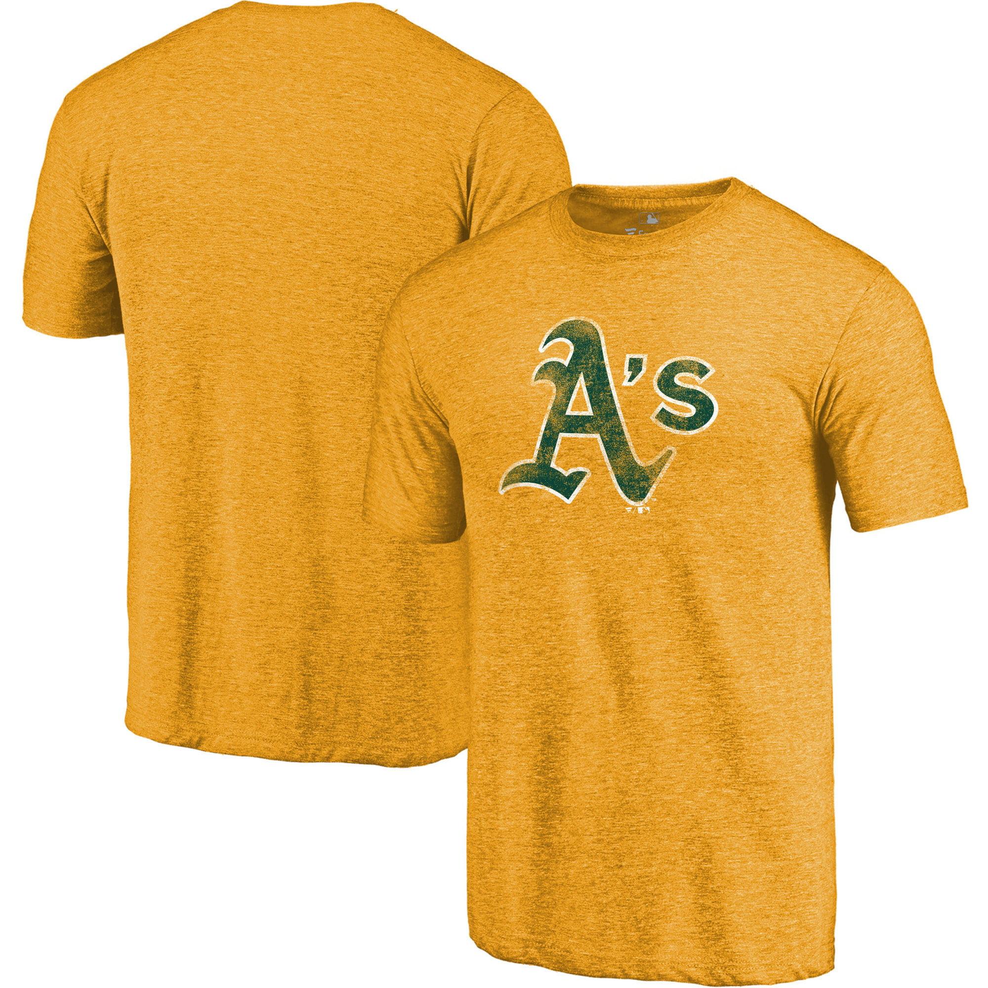 Oakland Athletics Fanatics Branded Team Distressed Tri-Blend T-Shirt - Gold
