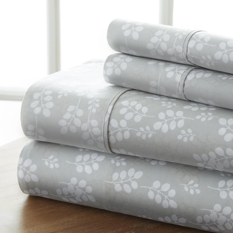 Noble Linens California King Premium Wheatfield Sheet Set, 4 Piece