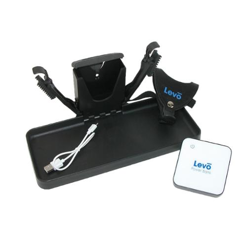 Levo  33122 Traveler Luggage Tray with Removable Power Bank Black