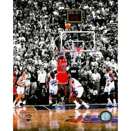 Michael Jordan 1998 NBA Finals Game Winning Shot Photo -