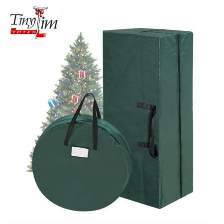 Tiny Tim Totes  | Combo | Christmas Tree Storage Bag & 30 In Wreath Bag | Green for $<!---->