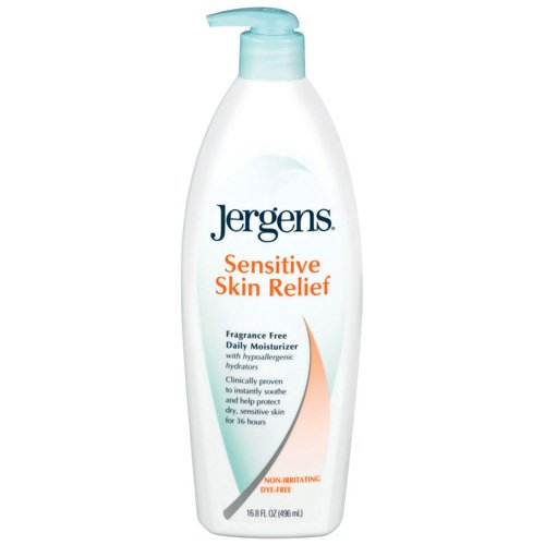 Jergens Sensitive Skin Relief Daily Moisturizer, 16.8 fl oz