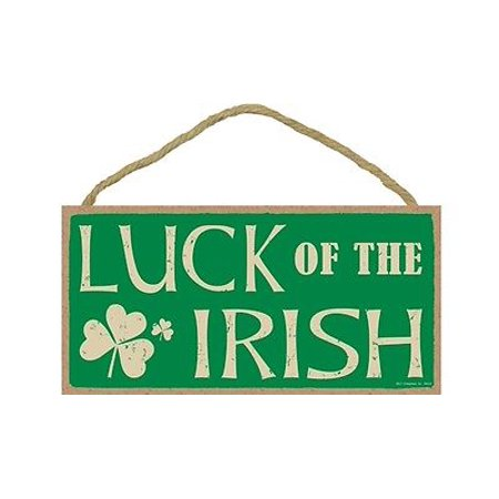 LUCK OF THE IRISH Primitive Wood Hanging Sign 5