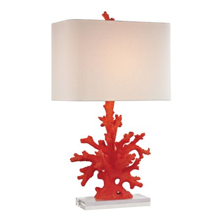 Red Coral Table Lamp in Red - image 1 of 1