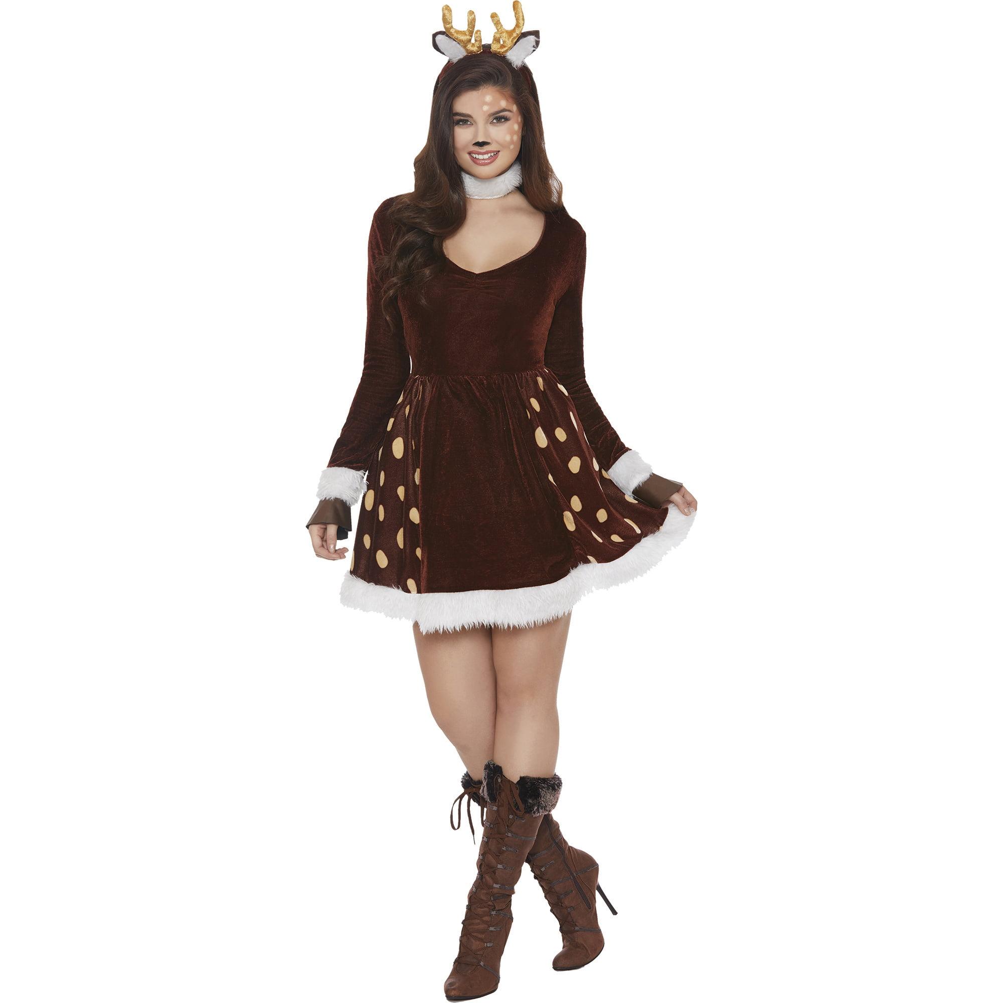 Deer Me Women S Xl Adult Halloween Costume Walmart Com Walmart Com