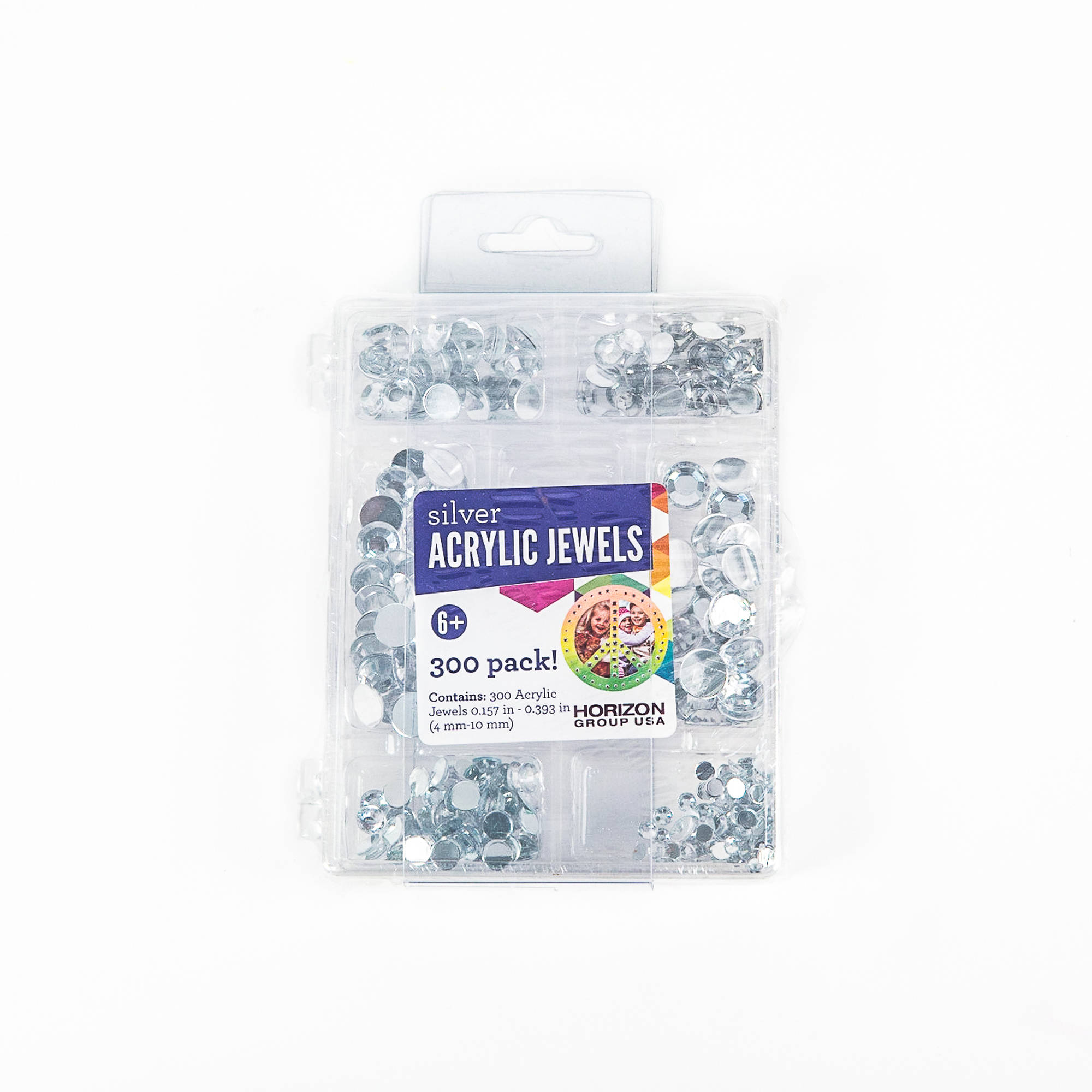 Kids Craft Acrylic Stones Value Pack, Clear Jewels