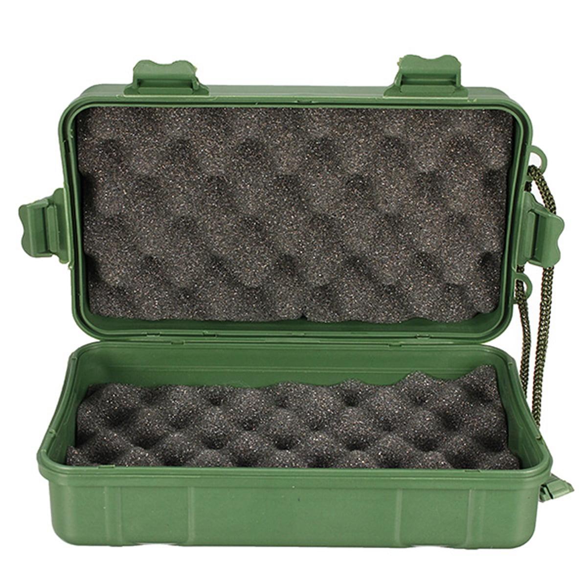Green Plastic Box Case Storage For Flashlight Torch Lamp Light Headlight,18cm x 12cm x 5cm