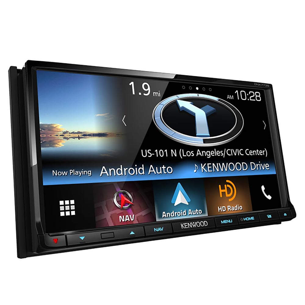 """Kenwood DNX773S 6.95"""" Double-DIN In-Dash Navigation DVD Receiver with Bluetooth, Apple CarPlay, Android Auto, HD... by Kenwood"""
