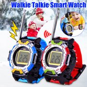 Walkie-talkie For kids 2 Pack Wireless Interphone Two Way Radio Red/Blue,Children's mini Smart watch walkie-talkie Kids Christmas gift