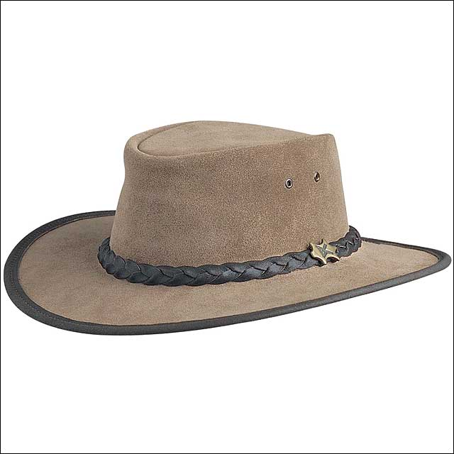MEDIUM CONNER HANDMADE BC HATS BUSH WALKER SUEDE AUSTRALI...