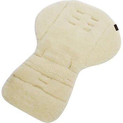 mountain buggy reversible lambswool and micro-suede stroller seat liner, white
