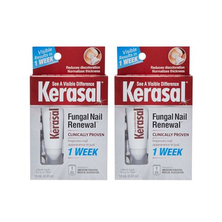 2 Pack Kerasal Nail Fungal Nail Renewal Treatment 10 Ml 0 33 Oz