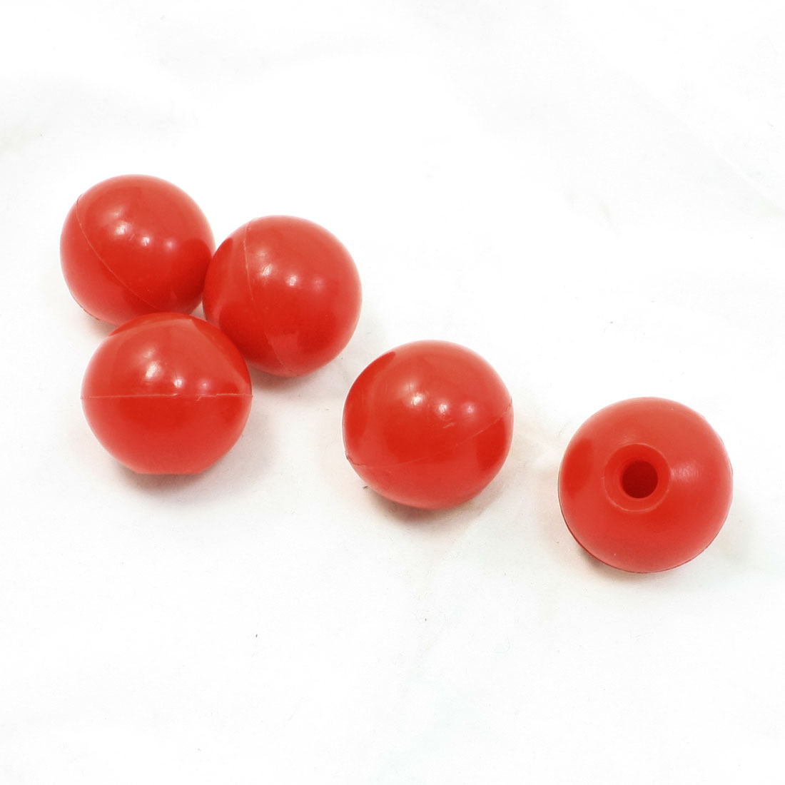 5 x Arcade Game Joystick Machine Handle Ball Knob Red 32mm Dia 8mm Thread