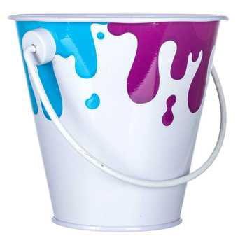 Colorful Paint Party Pail Favor Decoration Cake Topper](Party Pail)