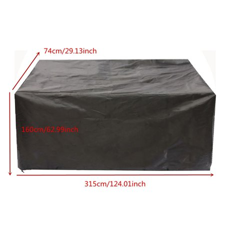 3 Sizes 210D Waterproof Furniture Cover Home Garden Patio Wicker Table Sofa Couch Anti Dust Covers Black - image 3 of 7