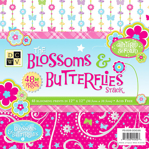 Blossoms & Butterflies Paper Stack 12X12 48 Sheets/Pad