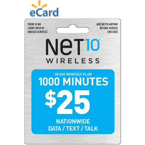 Net10 1000 MIN Data / Text / Talk $25 (Email Delivery)