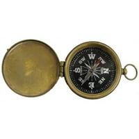 Woodland Imports Explorer Pocket Decorative Compass with Lid