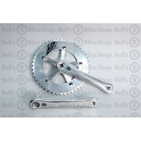 Sugino Messenger Cranks Polish Silver 170mm 46T Track Fixed Single