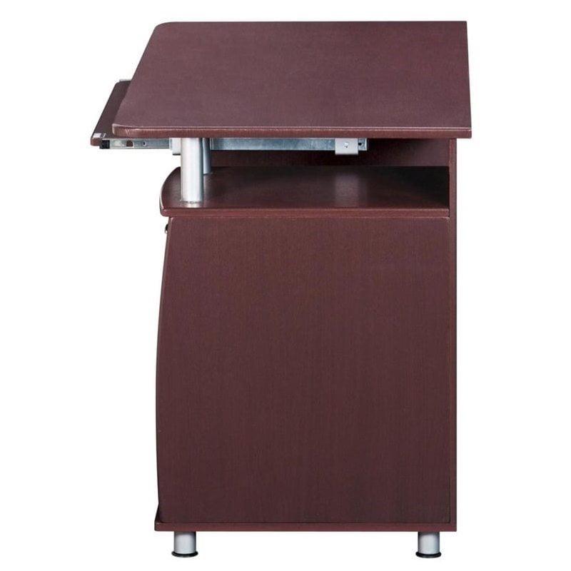 Pemberly Row Super Storage Computer Desk in Chocolate Finish - image 6 de 8