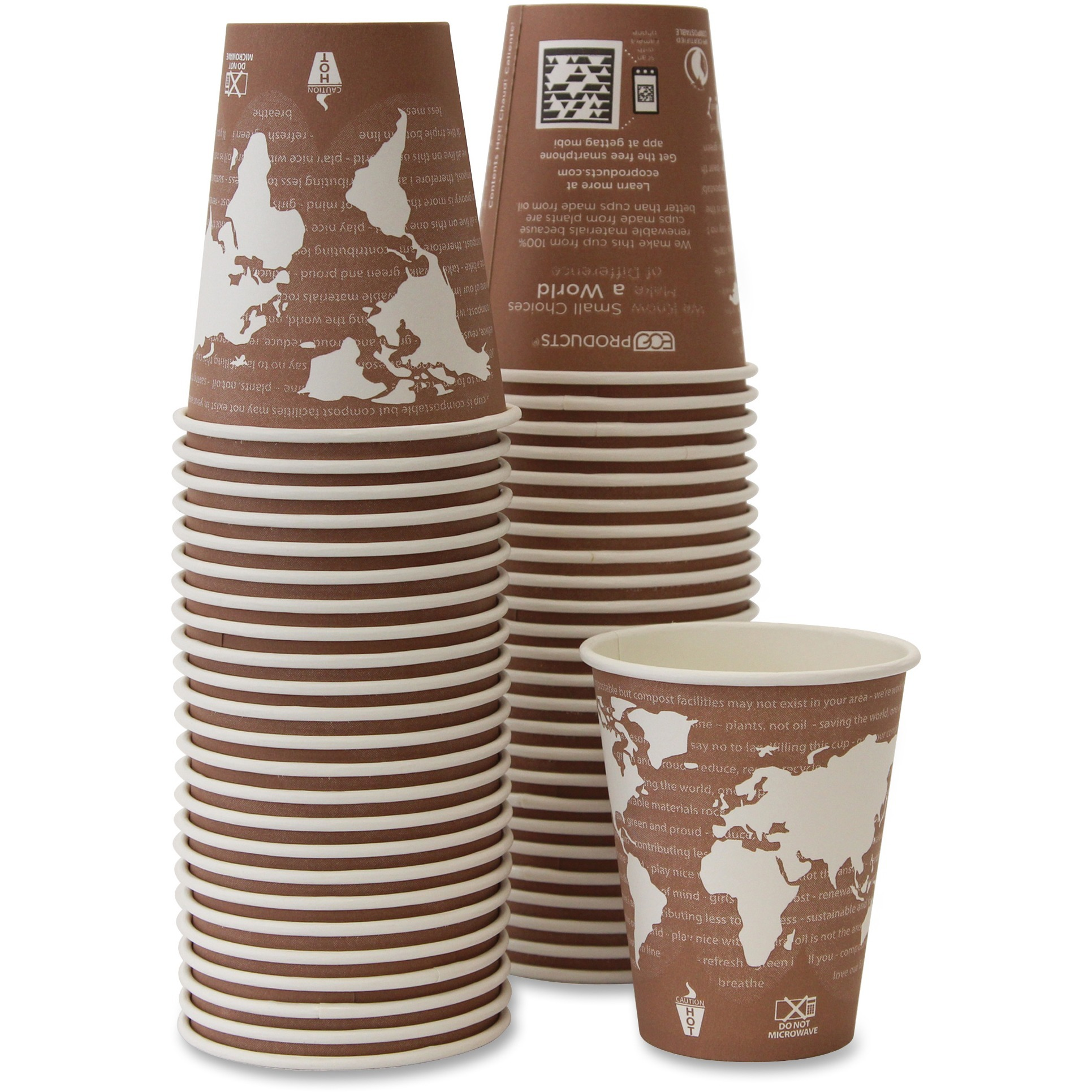Eco-Products, ECOEPBHC8WAPK, Renewable Resource Hot Drink Cups, 50 / Pack, Multi