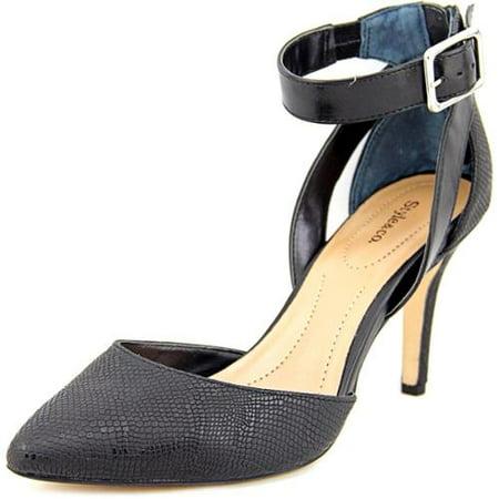 Womens S.C. Maisyy D'Orsay Ankle Strap Pumps - Black