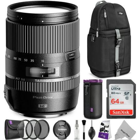 Tamron 16-300mm f/3.5-6.3 Di II VC PZD Macro Lens for CANON DSLR Cameras w/ Advanced Photo and Travel