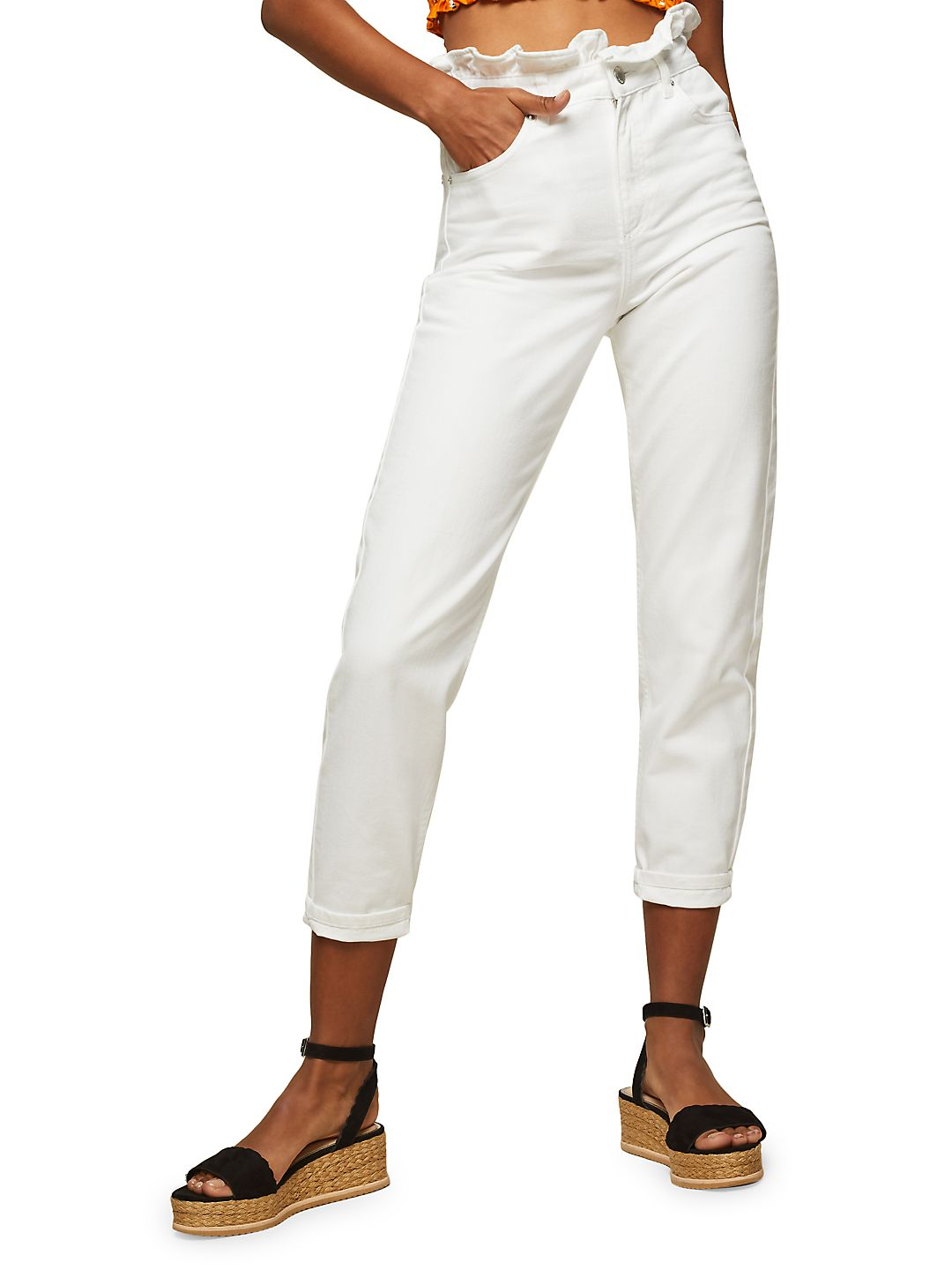 Frill High-Rise Mom Jeans