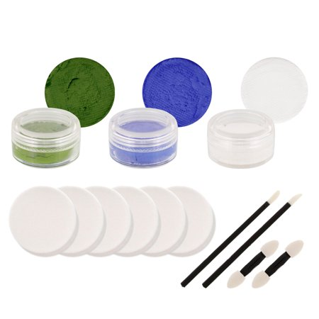 GREEN WAVE Football Basketball FACE PAINTING SET Paint](Football Face)