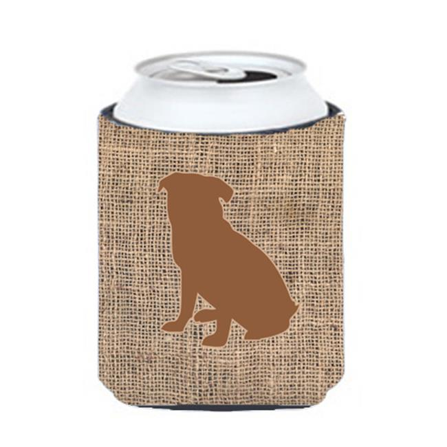 Pug Burlap And Brown Can Or Bottle  Hugger - image 1 of 1