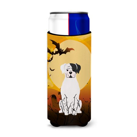 Halloween White Boxer Cooper Michelob Ultra Hugger for slim cans BB4380MUK - Cooper's Halloween
