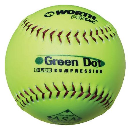 Worth Green Dot Ball - Set of 12 Green Dot Ball