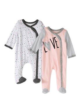 2c81a20252e1 Pink Baby Girls One-piece Pajamas - Walmart.com