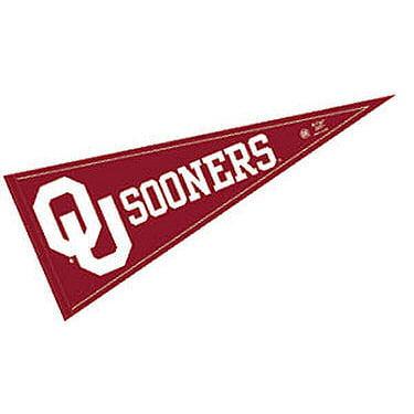 """Oklahoma Sooners 12"""" X 30"""" Felt College Pennant"""