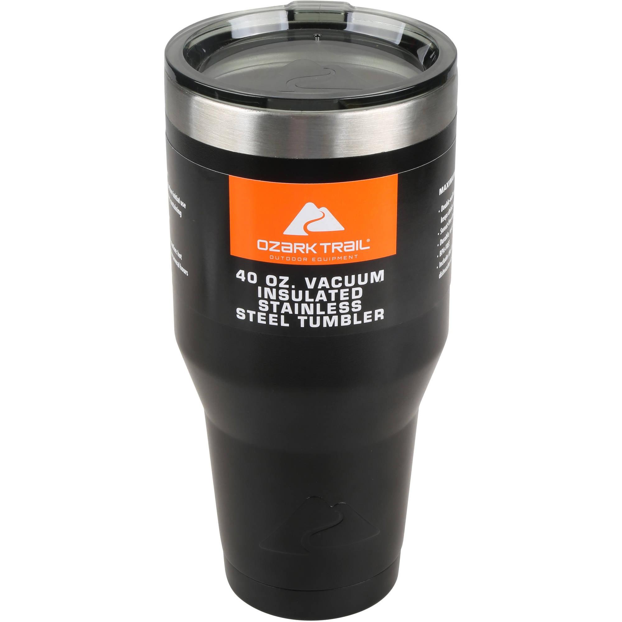 f443d396d2a Ozark Trail 40 oz Vacuum Insulated Stainless Steel Tumbler – Walmart ...