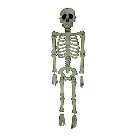 White Wood Large Scary Skeleton Hanging Halloween Decoration