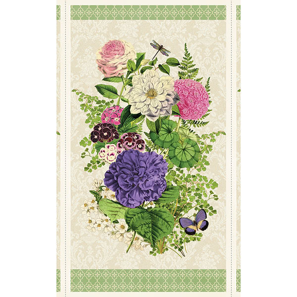 "Wilmington Prints Flower Show Multi Large 24"" Panel"