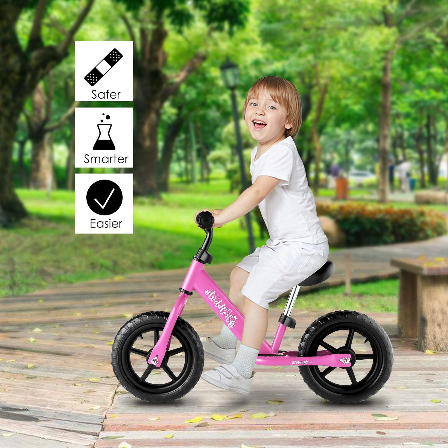 2018 The Newest Baby Balance Bike for Kids Age 3-6 Y/Adjustable Seat and Handle Height-More Suit for Growing Children HITC