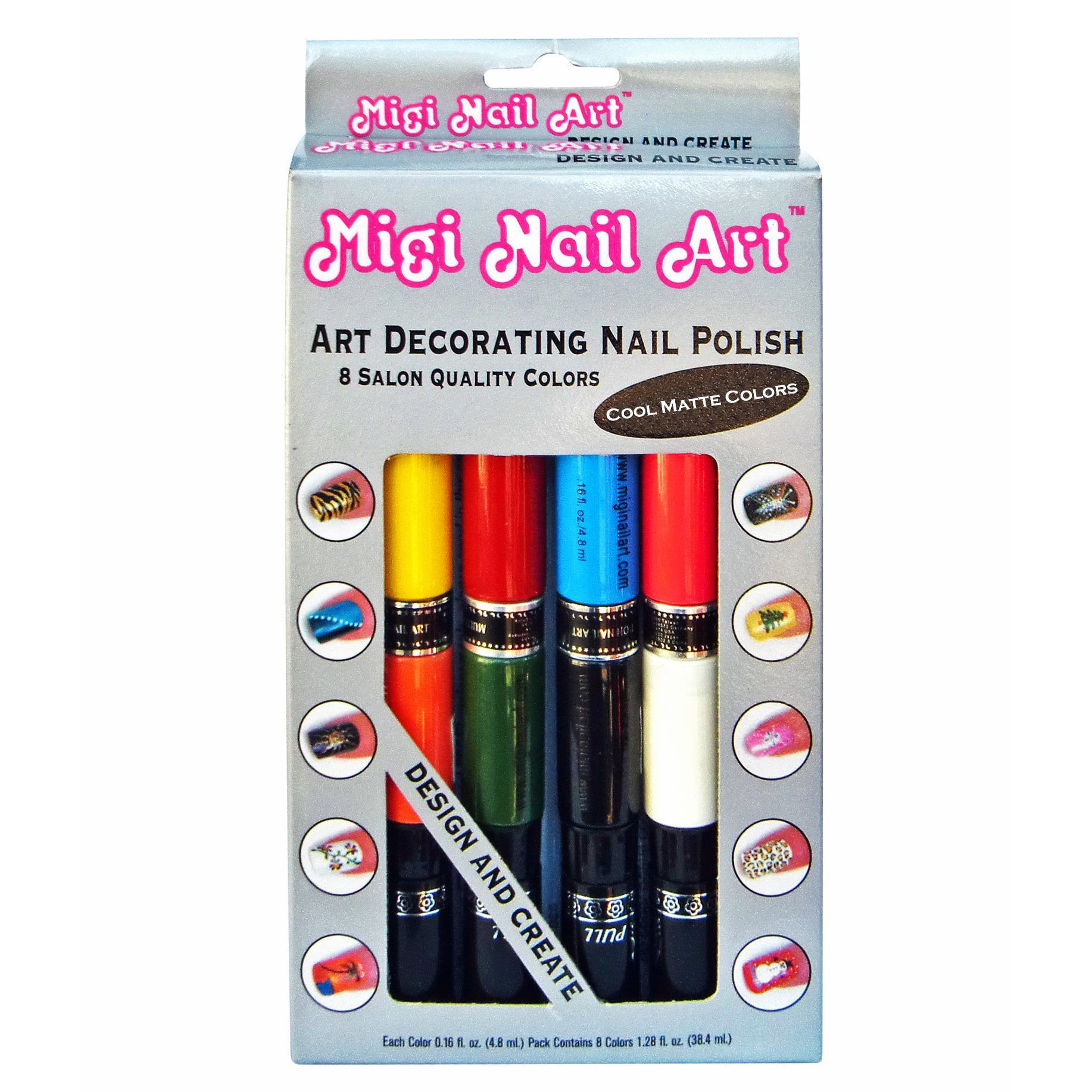 Migi Nail Art Migi Art Nail Polish and Pen Duo Matte Color Set