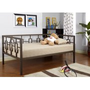 twin size brown metal day bed frame with black pop up high riser trundle - High Riser Bed Frame