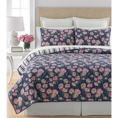 Martha Stewart Collection Carnation Field King Quilt