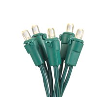 Holiday Time Warm White LED Mini Christmas Lights, 108.5', 250 Ct., 2 Pack, Green Wire