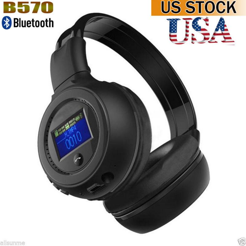 B570 Stereo Bluetooth 3.0 Wireless Headset/Headphones With Call Mic / Microphone